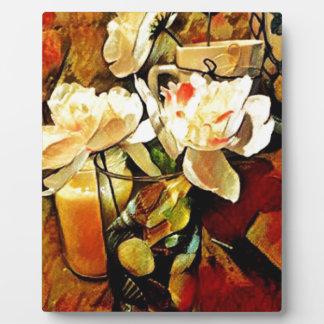 Modern Art Floral Plaque