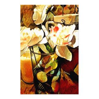 Modern Art Floral Stationery