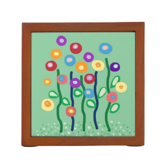 Modern art flowers in jewel bright colors Pencil/Pen holder
