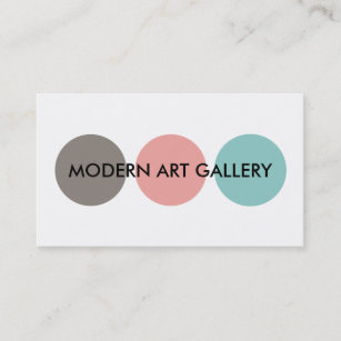 Art gallery business cards profile cards zazzle ca modern art gallery business card reheart Images