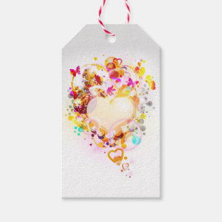 Modern Art Heart Pack Of Gift Tags