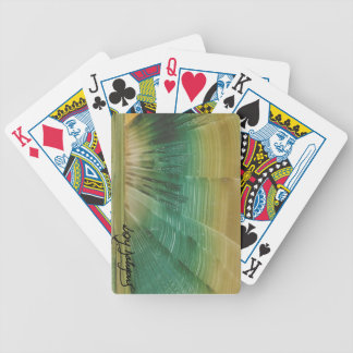 modern art in layer of I baralho Bicycle Playing Cards