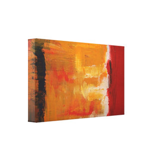 Modern Art - Minimalist Abstract Art Wrapped Canva Canvas Print