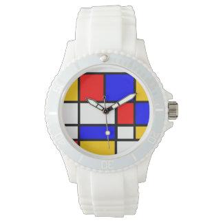 Modern art Mondrian style Wristwatches