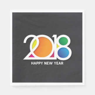 Modern  Art New Year's Party Celebration. Paper Napkin