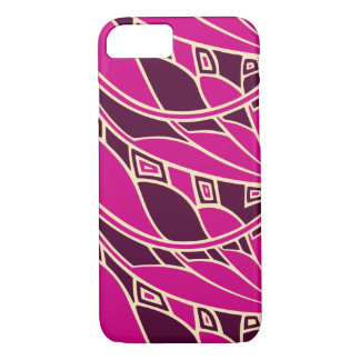 Modern art nouveau tessellations cerise and amber iPhone 7 case