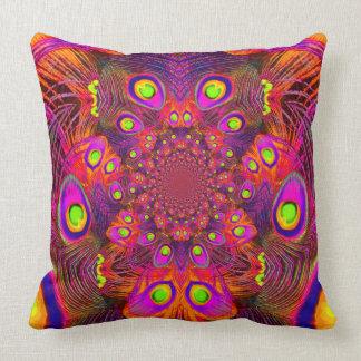 Modern Art Orange-Purple Pattern Pillows