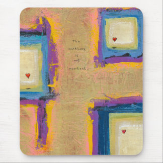 Modern art painting hearts Seeing Love only Mouse Pad