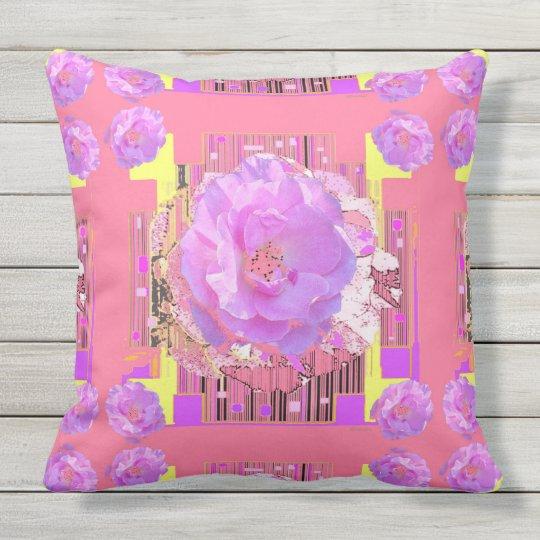 Modern Art Rose Abstract Pattern Throw Pillow