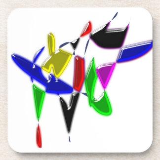 Modern art texture drink coaster