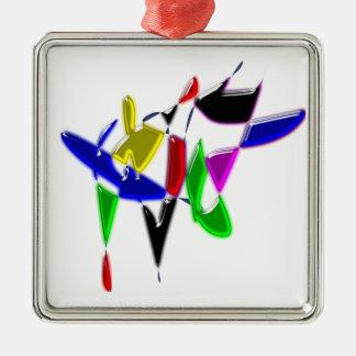 Modern art texture metal ornament