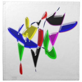 Modern art texture napkin