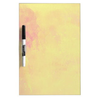 Modern Art Watercolor Abstract Yellow Orange Red Dry Erase Board