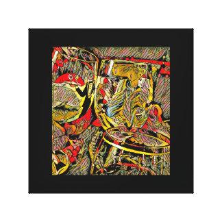 Modern Artistic 3 Wine Glass Toast Canvas Print