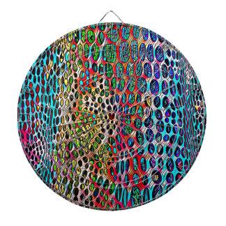 Modern Artistic Fall Toned Snake Skin Pattern Dartboard