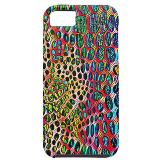 Modern Artistic Fall Toned Snake Skin Pattern iPhone 5 Covers