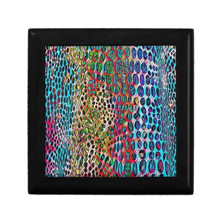 Modern Artistic Fall Toned Snake Skin Pattern Keepsake Boxes