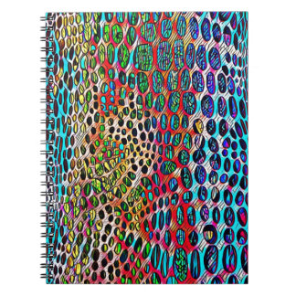 Modern Artistic Fall Toned Snake Skin Pattern Notebook