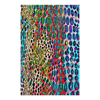 Modern Artistic Fall Toned Snake Skin Pattern Stationery