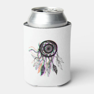 Modern Artistic Native American Dreamcatcher Can Cooler