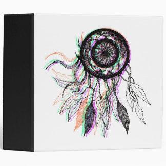 Modern Artistic Native American Dreamcatcher Vinyl Binder