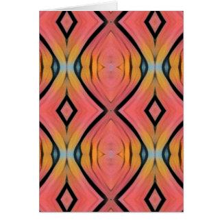 Modern Artistic Peach Pattern Card