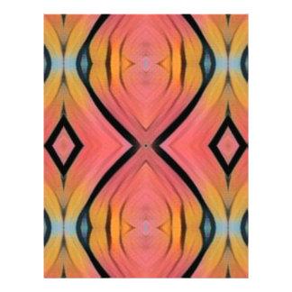 Modern Artistic Peach Pattern Letterhead Template