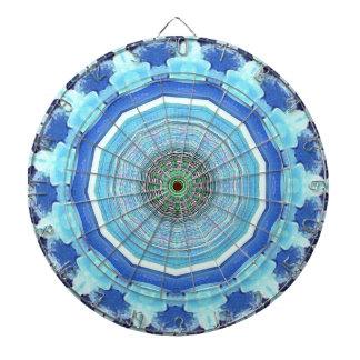 Modern Artistic Shades of Blue Mandala Dartboard