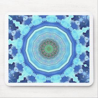 Modern Artistic Shades of Blue Mandala Mouse Pad