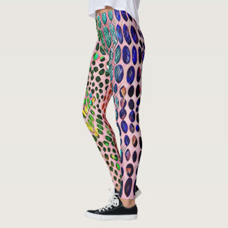 Modern Artistic Spring Pastels Snake Skin Pattern Leggings