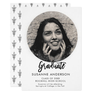Modern Artsy Circle Overlay Grad Announcement