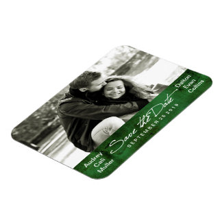 Modern Artsy Simplicity Photo Save The Date Magnet