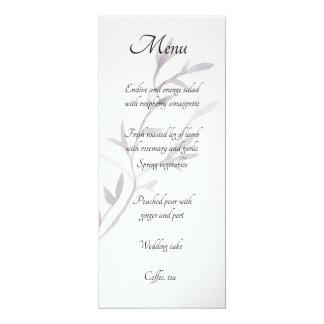 Modern Asian Inspired Wedding Reception Menu Card