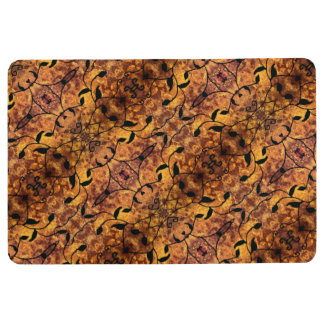 Modern Autumn Leaves Silhouette Pattern Floor Mat