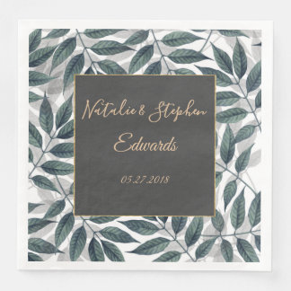 Modern autumn leaves wedding collection disposable napkins