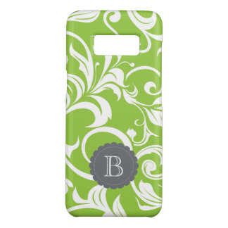 Modern Avocado Floral Wallpaper Swirl Monogram Case-Mate Samsung Galaxy S8 Case