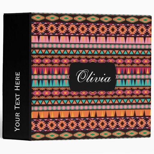 Modern Aztec Pattern Vinyl Binders