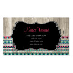 Modern Aztec Pattern on Wood Pack Of Standard Business Cards