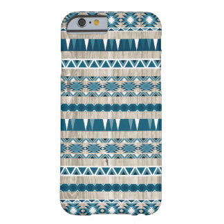 Modern Aztec Pattern on Wood Barely There iPhone 6 Case