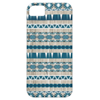 Modern Aztec Pattern on Wood iPhone 5 Cases
