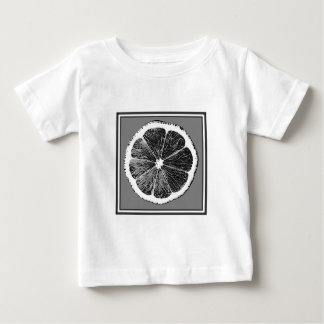 Modern  B&W Grey cut Grape Fruit Design Baby T-Shirt