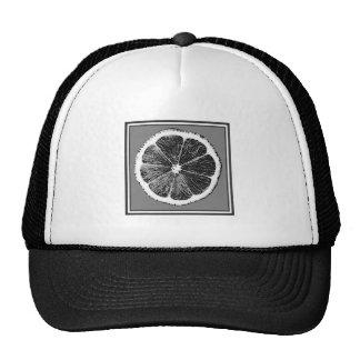 Modern  B&W Grey cut Grape Fruit Design Trucker Hat
