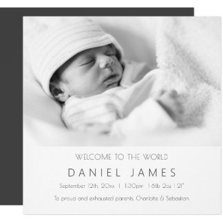 Modern Baby Announcement Personalized Photo