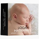 Modern Baby Photo Album - Black 3 Ring Binders