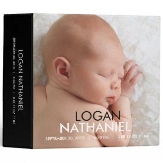Modern Baby Photo Album - Black binders