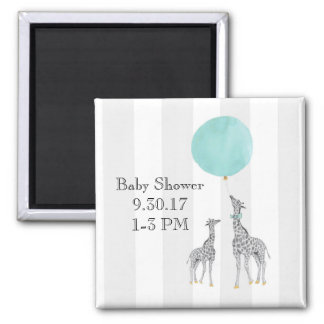 Modern Baby Shower Magnet (Boy)