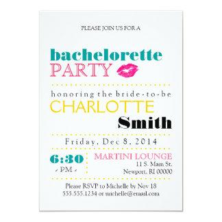 Modern Bachelorette Party Invitation