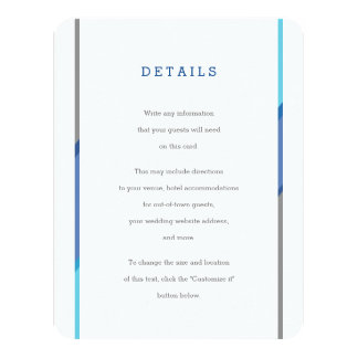 Modern Bar Mitzvah Invitation Insert | Blue + Teal