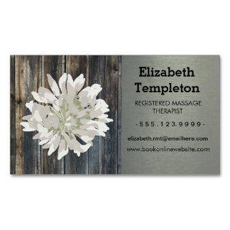 Modern Barn Board Floral Business Cards