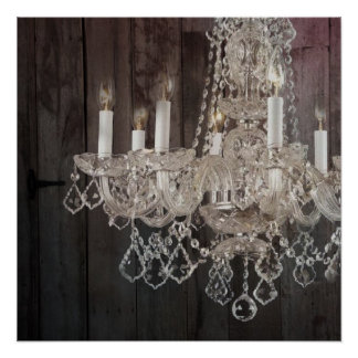 modern barnwood crystal chandelier country chic posters